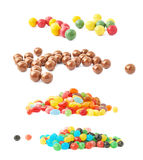 Pile of multiple jelly bean candies Stock Photos