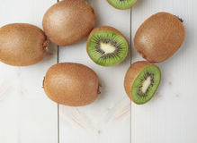 Pile of multiple kiwifruits Royalty Free Stock Photo
