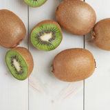 Pile of multiple kiwifruits Stock Photos