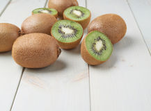 Pile of multiple kiwifruits Royalty Free Stock Images