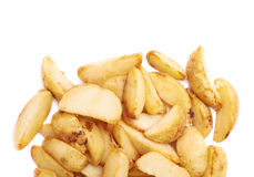 Pile of multiple oven baked fries chips Royalty Free Stock Photo