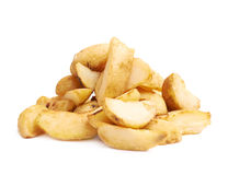Pile of multiple oven baked fries chips Royalty Free Stock Photography