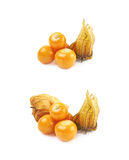 Pile of multiple physalis fruits Royalty Free Stock Photography
