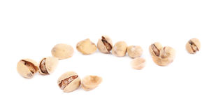 Pile of multiple pistachios isolated Royalty Free Stock Image