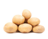 Pile of multiple potatoes isolated Stock Images