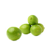 Pile of multiple ripe limes, composition isolated Royalty Free Stock Images