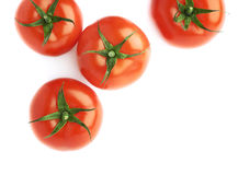 Pile of multiple tomatoes isolated Royalty Free Stock Images