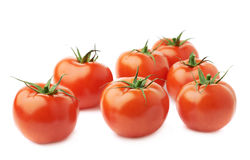 Pile of multiple tomatoes isolated Royalty Free Stock Photos