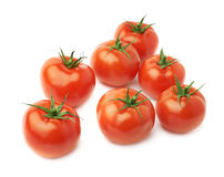 Pile of multiple tomatoes isolated Stock Images