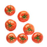 Pile of multiple tomatoes isolated Stock Photo