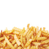 Pile of multiple wavy french fries isolated Stock Photo