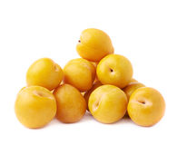 Pile of multiple yellow plums  Royalty Free Stock Photo