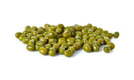 Pile of mung beans isolated on white Royalty Free Stock Photography