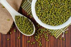 Pile of mung beans Stock Photos