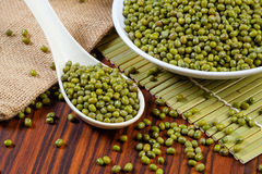 Pile of mung beans Stock Photography