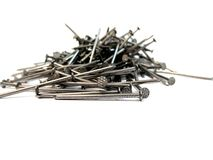 Pile of nails royalty free stock photography