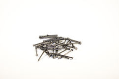 Pile of nails. Isolated on a white background Stock Images