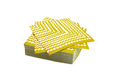 Pile of napkins isolated Stock Photography