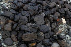 Pile of natural coal Royalty Free Stock Photos