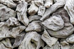 A pile of natural wooden logs. Background Royalty Free Stock Image