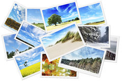Pile of nature photos stock photography