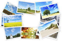 Pile of nature photos Royalty Free Stock Image