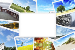 Pile of nature photos royalty free stock images