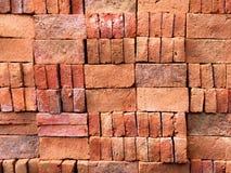 Pile of Neatly Arranged Construction Bricks Stock Photos