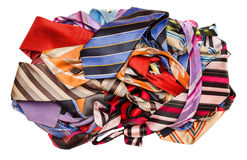 Pile of neckties Stock Images