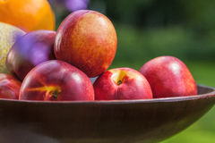 Pile of nectarines Royalty Free Stock Photography