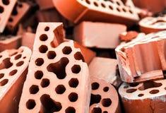 Pile of new but beaten silicate bricks Stock Photography