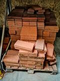 Pile of new bricks for construction. Group, material. Pile of new bricks for construction. Group, material on a store stock images