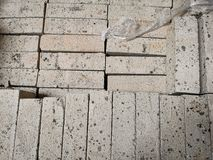 Pile of new bricks for construction. Group, material. Pile of new bricks for construction. Group, material in a store stock photos
