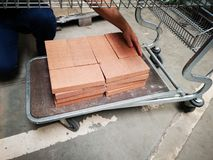 Pile of new bricks for construction. Group, material. Pile of new bricks for construction. Group, material in a store stock images
