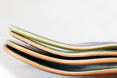 Pile of new wooden skateboard decks.  Stock Photography