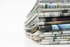 Pile of newspaper 1103 Stock Photos