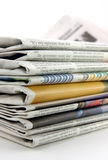 Pile of newspaper stock photography