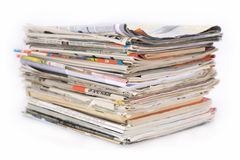 Pile of newspaper Royalty Free Stock Photos