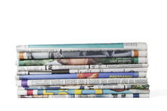 Pile of newspapers. Stock Photo