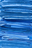 Pile of newspapers royalty free stock photo