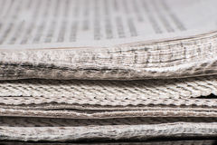Pile of newspapers royalty free stock image