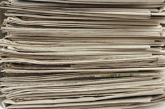 Pile of newspapers. Royalty Free Stock Images