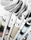 Pile of newspapers, selective focus Stock Images