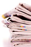 Pile of newspapers Royalty Free Stock Images