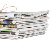 Pile of newspapers Stock Image