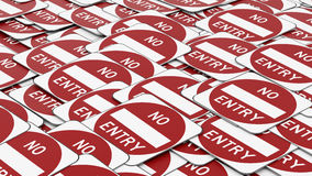 Pile of No Entry Traffic Signs Stock Photography