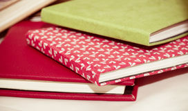 Pile of notebooks Royalty Free Stock Image