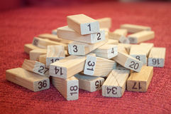 Pile of number blocks Stock Images