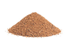 Pile of Nutmeg powder isolated on white. Royalty Free Stock Photo