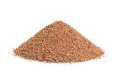 Pile of Nutmeg powder isolated on white. royalty free stock photo